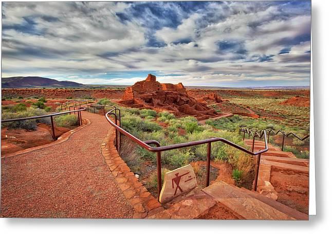 Wupatki Ruins In Arizona  Greeting Card by Jennifer Rondinelli Reilly - Fine Art Photography