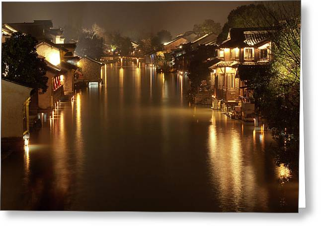 Wuzhen - Venice Of The Far East Greeting Card by Andrew Soundarajan