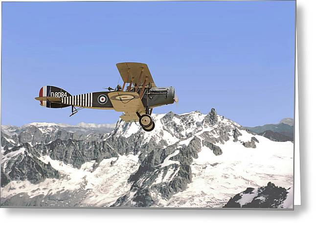 Ww1 - Bristol Fighter Greeting Card by Pat Speirs