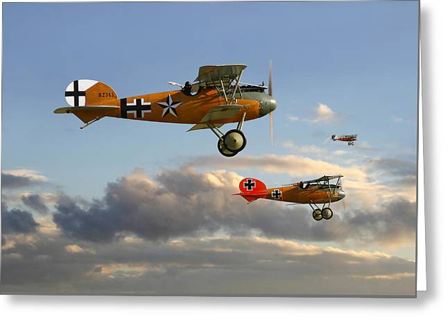 Ww1 - Fighting Colours 3 Greeting Card by Pat Speirs