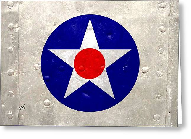 Ww2 Army Air Corp Insignia Greeting Card by John Wills