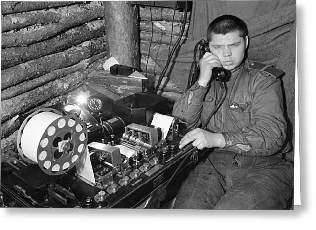 Ww2 Artillery Detection Equipment, 1944 Greeting Card by Ria Novosti