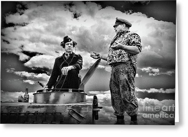 Ww2 German Tank Commander Greeting Card