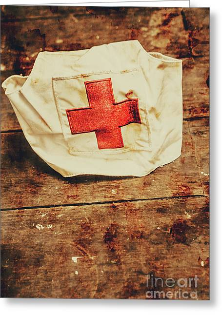 Ww2 Nurse Hat. Army Medical Corps Greeting Card