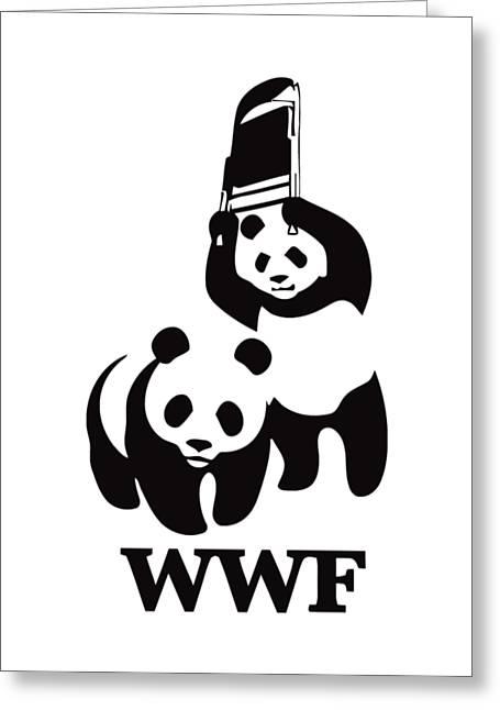 Wwf Panda Greeting Card