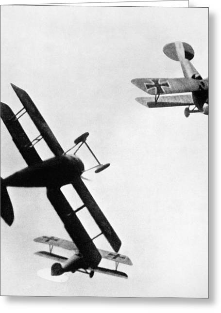 Wwi: Dogfight Greeting Card by Granger