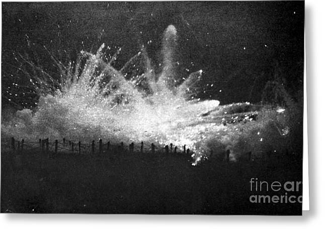 Wwi, German Barrage, Second Battle Greeting Card by Science Source