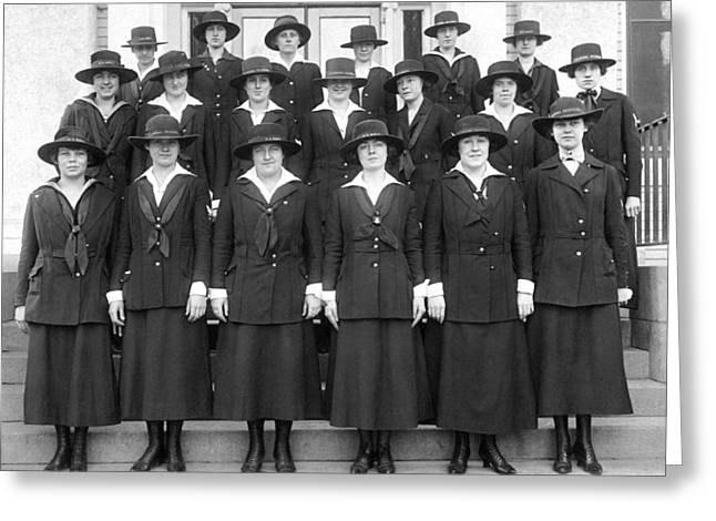 Wwi Navy Women Yeoman Greeting Card by Underwood Archives