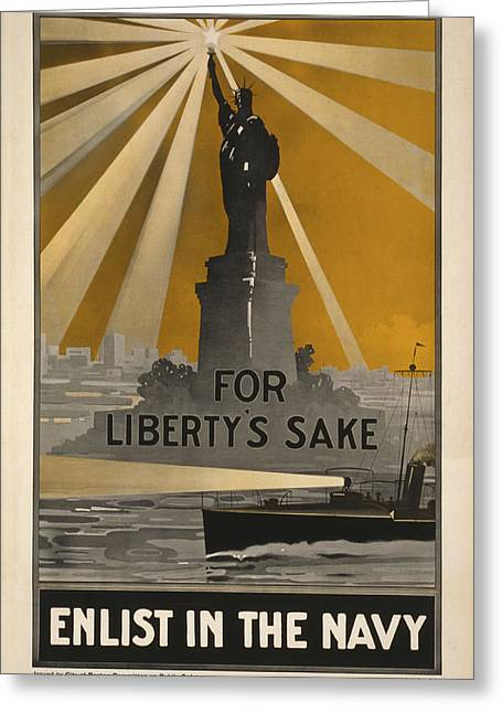 Wwi Recruitment Poster Greeting Card by Underwood Archives