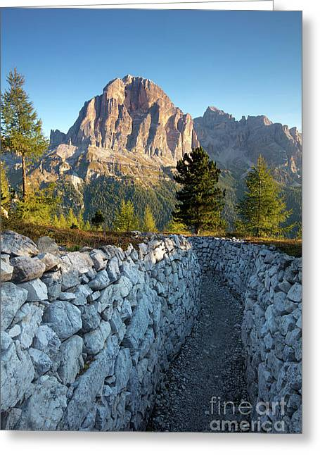 Wwi Trenches - Dolomites Greeting Card by Brian Jannsen