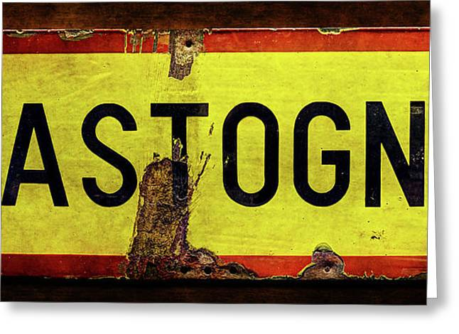 Wwii Bastogne Town Sign Greeting Card