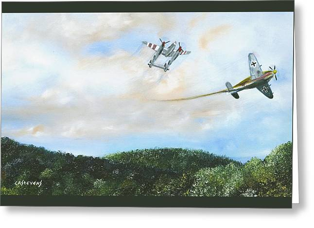 Wwii Dogfight Greeting Card