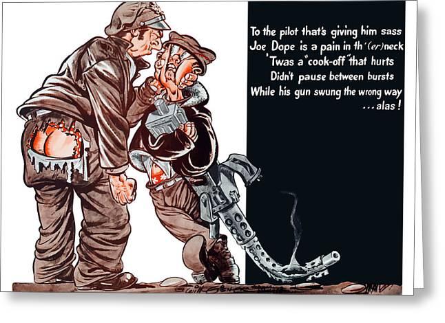 Wwii Joe Dope Cartoon Greeting Card