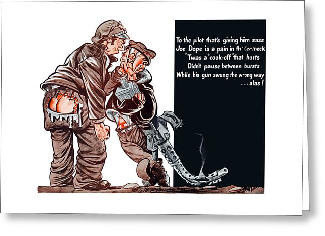 Political Cartoon Greeting Cards - WWII Joe Dope Cartoon Greeting Card by War Is Hell Store