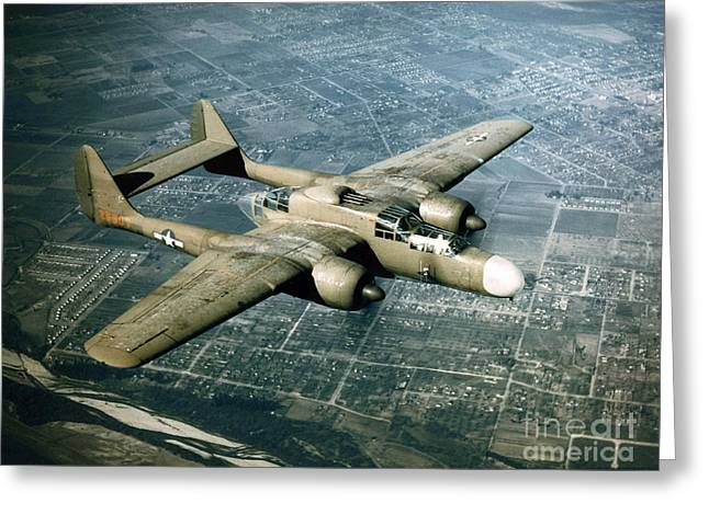 Wwii, Northrop P-61 Black Widow, 1940s Greeting Card by Science Source