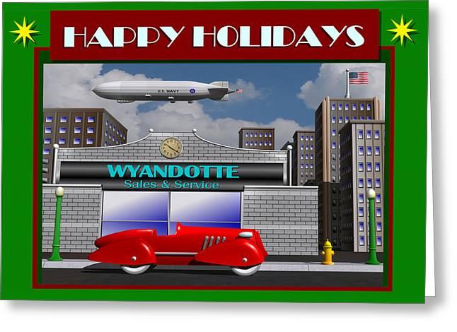 Wyandotte Happy Holidays Greeting Card by Stuart Swartz