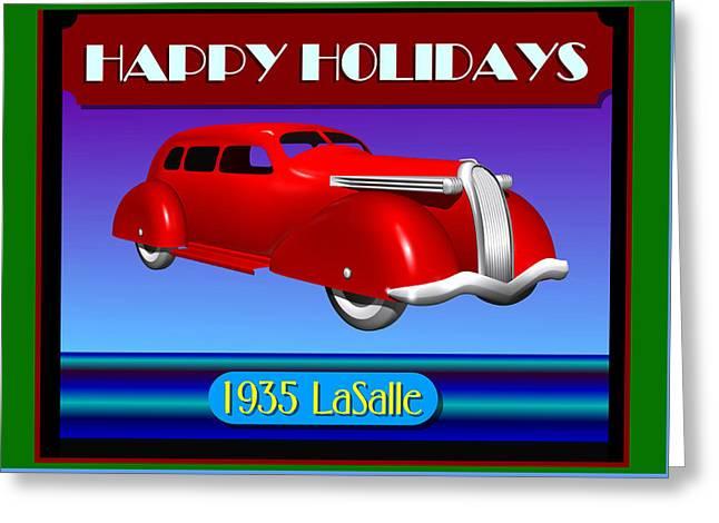 Wyandotte Lasalle Happy Holidays Greeting Card by Stuart Swartz