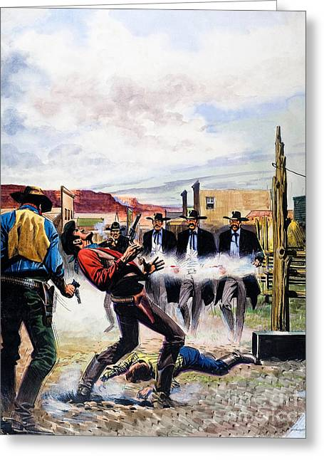 Wyatt Earp And The Battle Of The Ok Corral Greeting Card