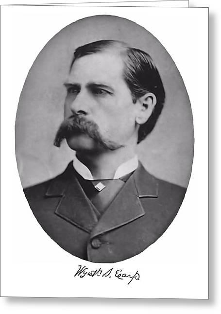 Wyatt Earp Autographed Greeting Card