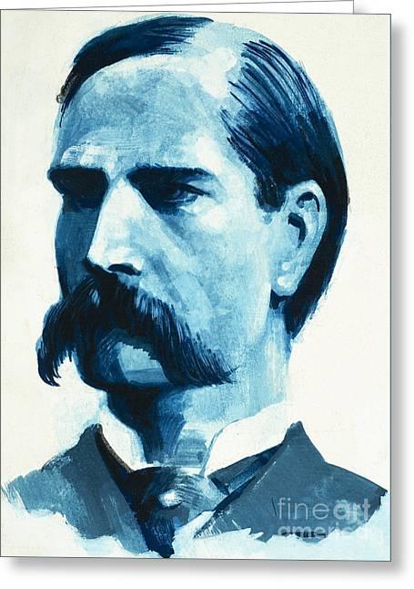 Wyatt Earp Greeting Card by English School