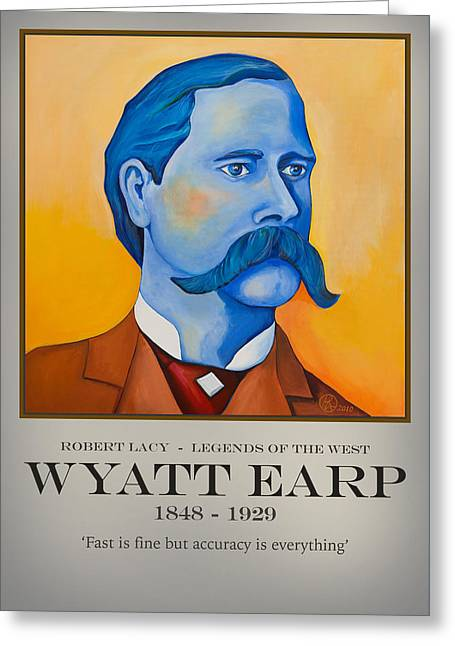 Wyatt Earp Poster Greeting Card