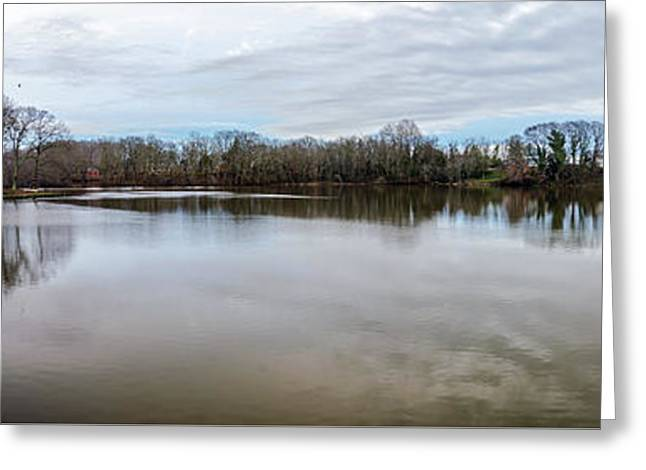 Wye Mills Lake - Pano Greeting Card by Brian Wallace