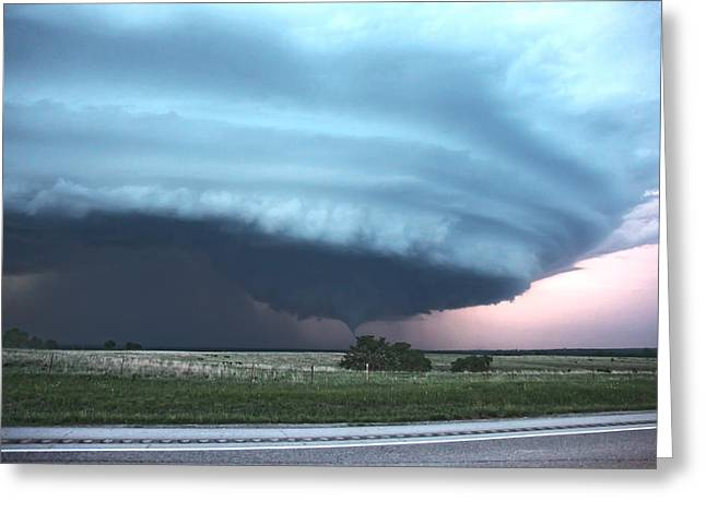 Wynnewood Tornado Greeting Card by James Menzies
