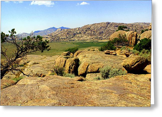 Wyoming Landscape Greeting Card by Marty Koch