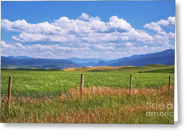 Greeting Card featuring the photograph Wyoming Landscape by Sharon Seaward
