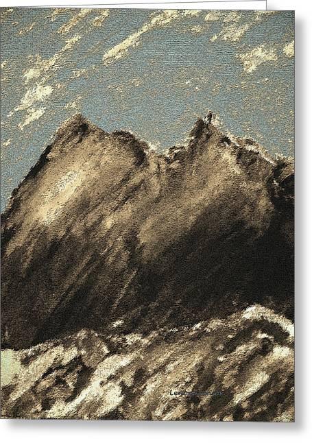 Wyoming Mountain Scene Greeting Card