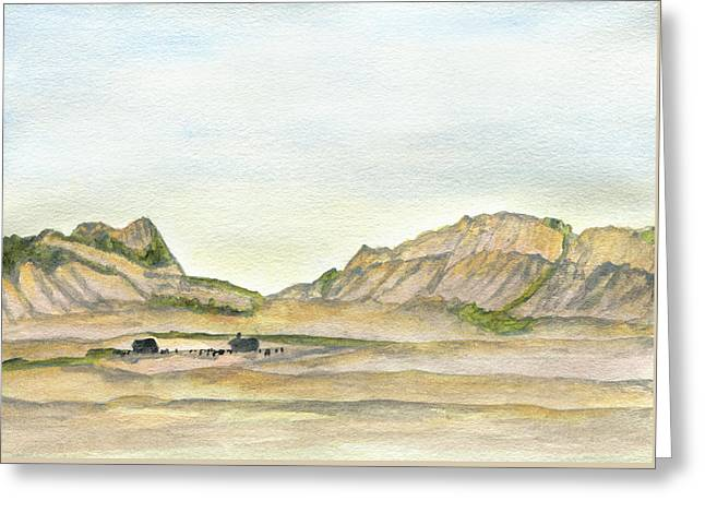 Wyoming Ranch Greeting Card by R Kyllo