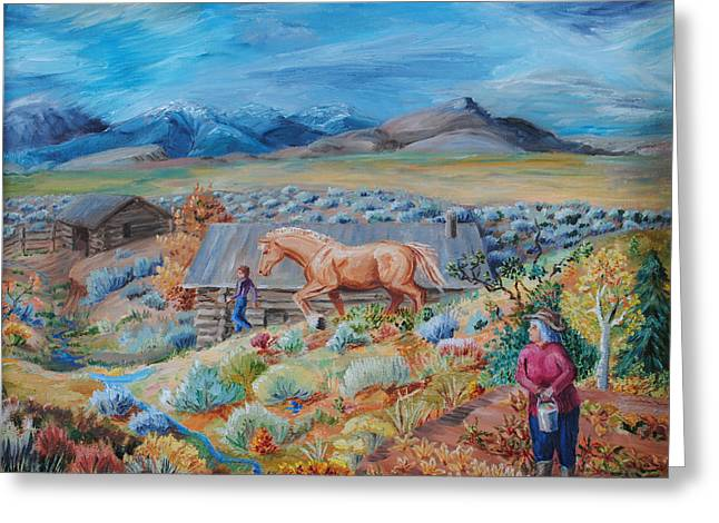 Wyoming Ranch Scene Greeting Card