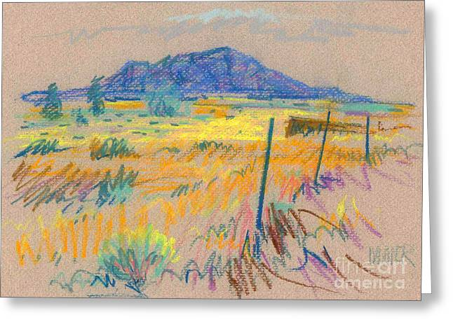 Pastel Landscape Greeting Cards - Wyoming Roadside Greeting Card by Donald Maier