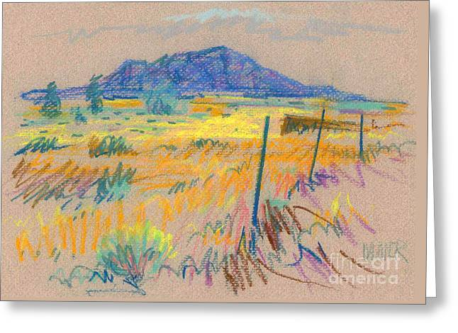 Wyoming Roadside Greeting Card by Donald Maier