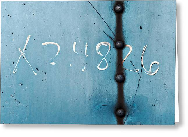 X 2.4826 ...slate Blue Greeting Card