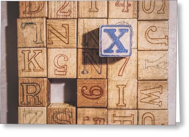 X Blocks Greeting Card by Scott Norris