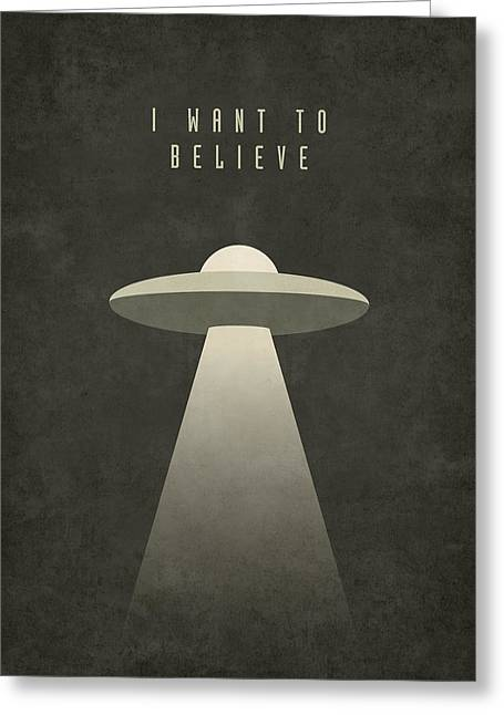 X-files I Want To Believe Greeting Card by Ivan Krpan