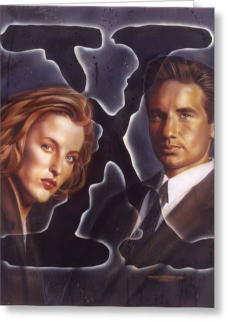 X Files Greeting Cards - X-Files Greeting Card by Tim  Scoggins