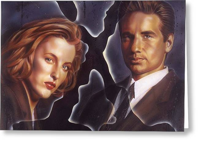 X-files Greeting Card by Tim  Scoggins