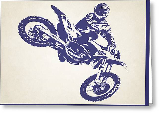 X Games Motocross 1 Greeting Card by Stephanie Hamilton