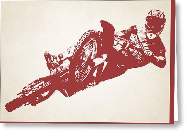 X Games Motocross 2 Greeting Card by Stephanie Hamilton
