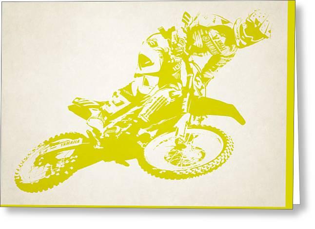 X Games Motocross 5 Greeting Card by Stephanie Hamilton