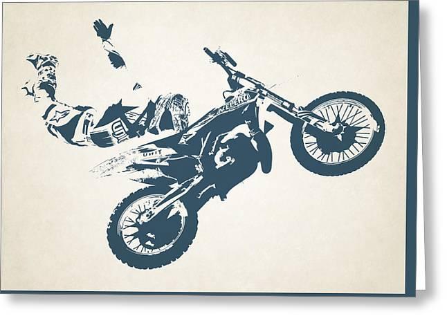 X Games Motocross 6 Greeting Card by Stephanie Hamilton
