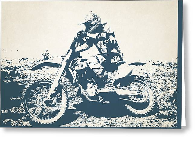 X Games Motocross 7 Greeting Card by Stephanie Hamilton