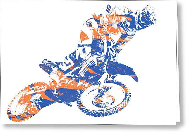 X Games Motocross Pixel Art 1 Greeting Card