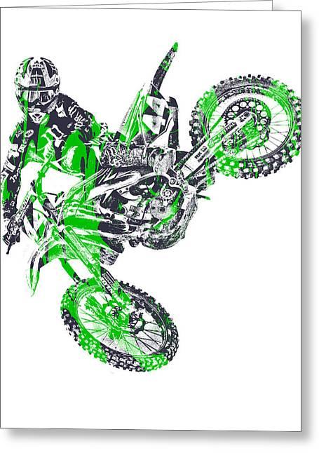 X Games Motocross Pixel Art 7 Greeting Card