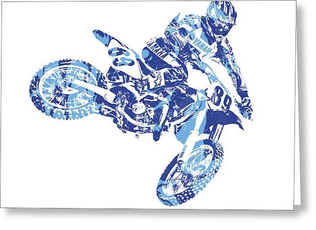 X Games Motocross Pixel Art 8 Greeting Card