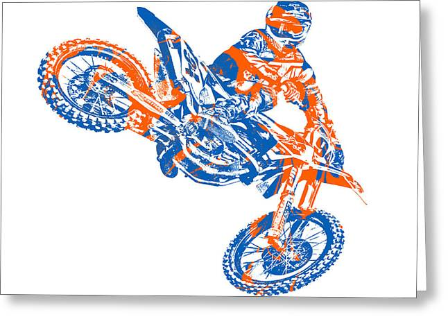 X Games Motocross Pixel Art 9 Greeting Card