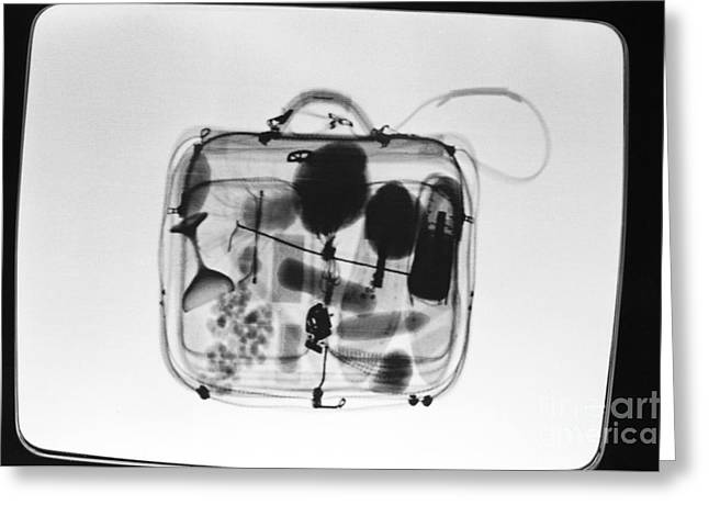 X-ray Of Suitcase Greeting Card by Science Source