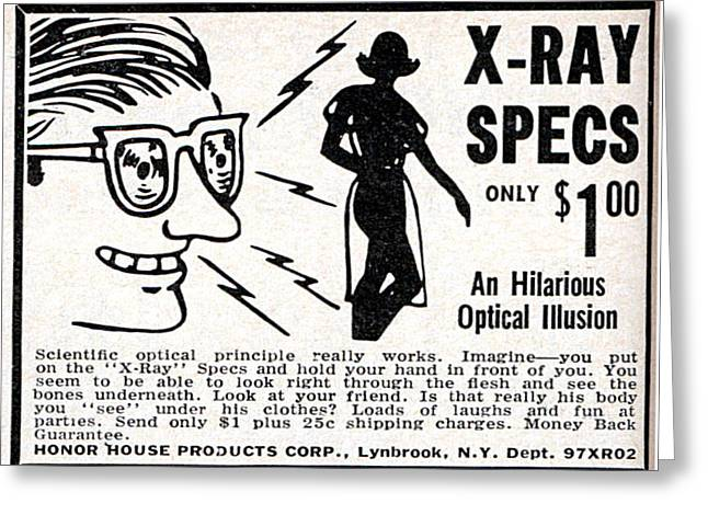 X-ray Specs $1.00 Greeting Card